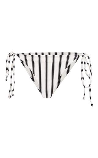 Medium tori praver stripe allegra string bikini bottom