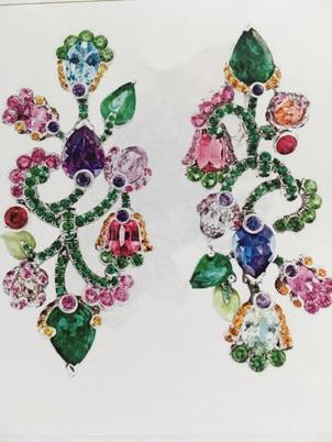 Secret Garden Chandelier Earrings by FABERGE for Preorder on Moda Operandi