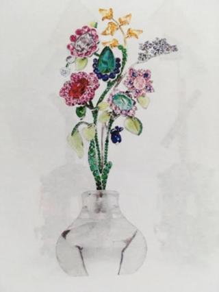 Secret Garden Brooch by FABERGE for Preorder on Moda Operandi