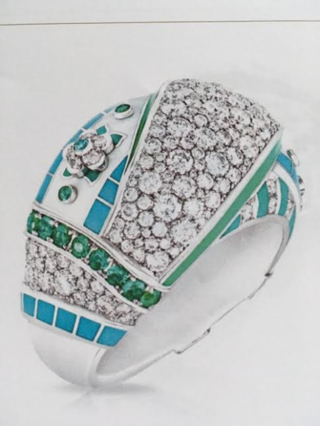 Summer In Provence Pavé Diamond Ring by FABERGE for Preorder on Moda Operandi
