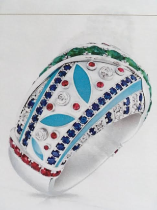 Summer In Provence Geometric Ring by FABERGE for Preorder on Moda Operandi