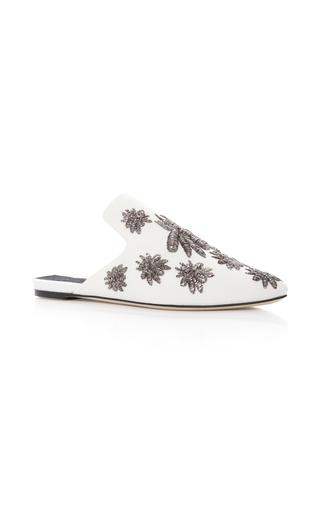 Medium sanayi 313 white ragno embroidered faille slippers