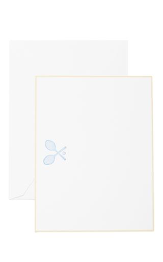Medium the printery blue tennis racquet boxed note cards