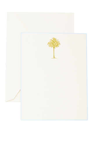 Medium the printery green palm tree boxed note cards