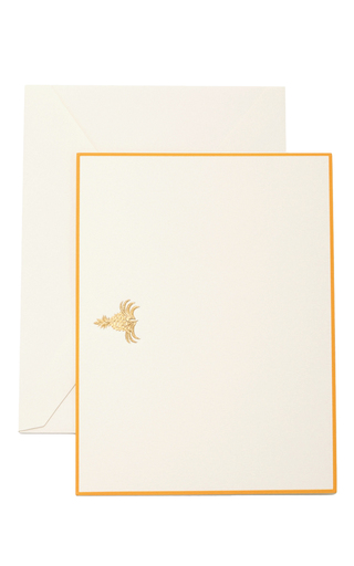 Medium the printery gold gold pineapple boxed note cards