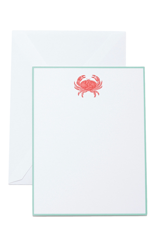 Medium the printery red red crab boxed note cards