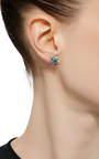 Tri Stud Earring by EDEN PRESLEY Now Available on Moda Operandi
