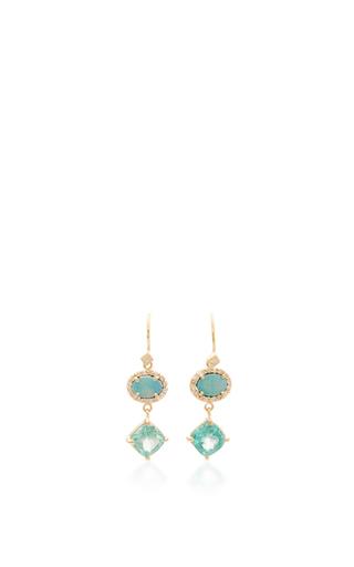 Medium eden presley blue wire drop earring