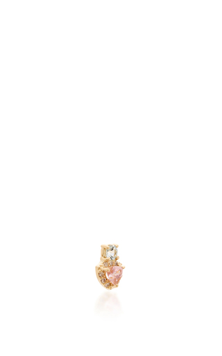 Tourmaline And Aquamarine Stud Earring by EDEN PRESLEY Now Available on Moda Operandi