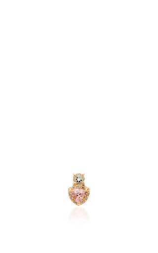 Medium eden presley multi tourmaline and aquamarine stud earrings