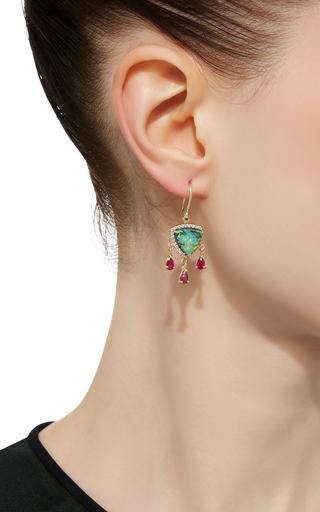 Sterling Opal And Ruby Diamond Earrings by EDEN PRESLEY Now Available on Moda Operandi