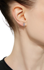 Sapphire And Topaz Stud Earring by EDEN PRESLEY Now Available on Moda Operandi