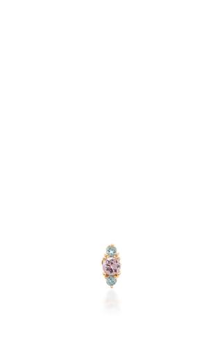 Medium eden presley blue sapphire and topaz stud earring
