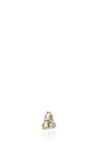 Tri Rainbow Moonstone Stud Earring by EDEN PRESLEY Now Available on Moda Operandi