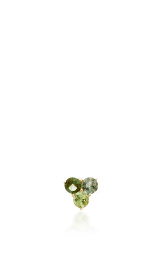 Tri Tourmaline Stud Earring by EDEN PRESLEY Now Available on Moda Operandi