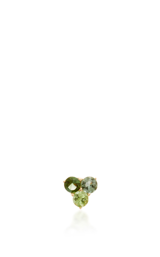 Medium eden presley green tri tourmaline stud earrings