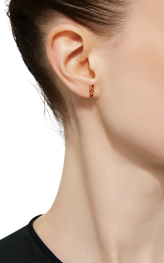 Orange Sapphire Stud Earring by EDEN PRESLEY Now Available on Moda Operandi