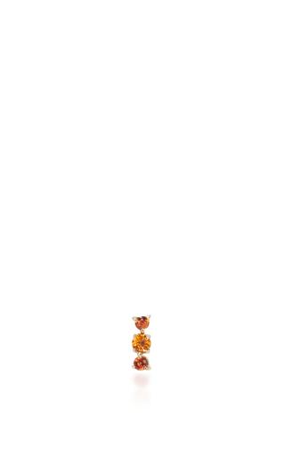 Medium eden presley orange orange sapphire stud earrings