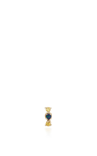 Sapphire And Boulder Stud Earring by EDEN PRESLEY Now Available on Moda Operandi