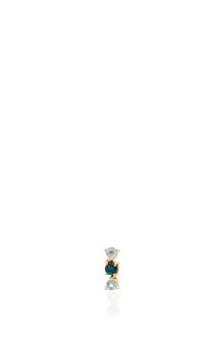 Medium eden presley blue topaz and boulder stud earrings