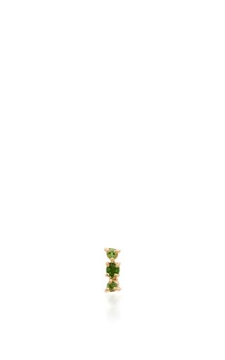 Medium eden presley green chrome diopside stud earrings