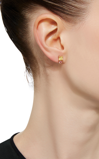 Sapphire And Tourmaline Stud Earring  by EDEN PRESLEY Now Available on Moda Operandi