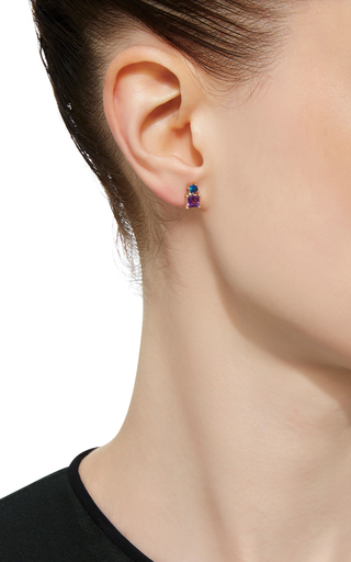 Amethyst And Opal Stud Earring by EDEN PRESLEY Now Available on Moda Operandi
