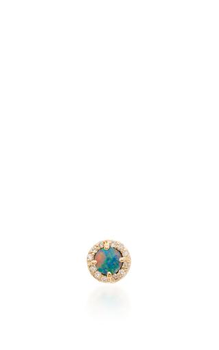 Medium eden presley blue opal and diamond studs