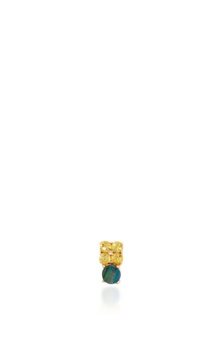 Opal And Sapphire Stud Earring by EDEN PRESLEY Now Available on Moda Operandi