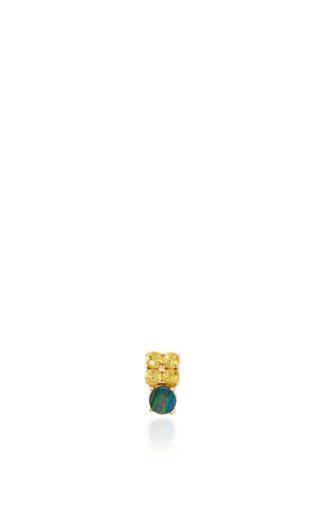 Medium eden presley yellow opal and sapphire stud earrings