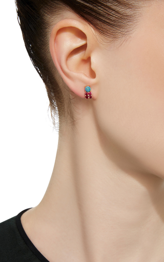 Opal And Spinel Stone Stud Earring by EDEN PRESLEY Now Available on Moda Operandi