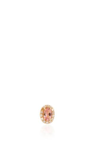 Medium eden presley pink zircon and diamond stud earrings