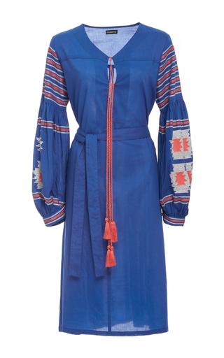 Medium chantik blue embroidered ukrainian midi dress
