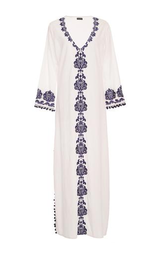 Medium chantik white long embroidered caftan