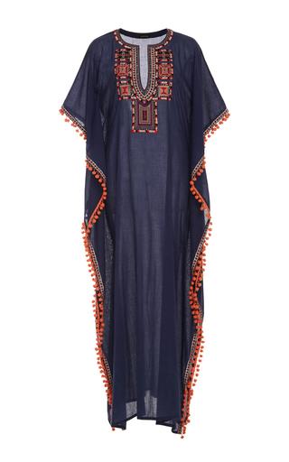 Medium chantik navy long tribal embroidered caftan