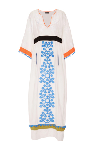 Medium chantik multi embroidered colorblock caftan