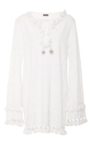 Medium chantik white floral embroidered eyelet dress
