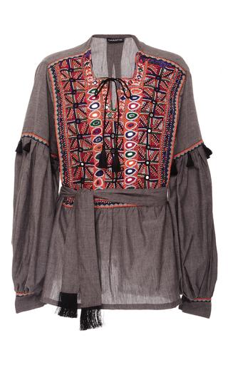 Medium chantik dark grey embellished mirror tunic