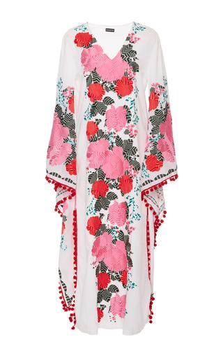 Medium chantik floral floral embroidered long caftan