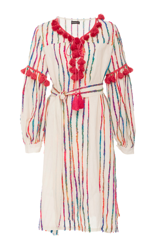 Medium chantik stripe fringe stripe dress