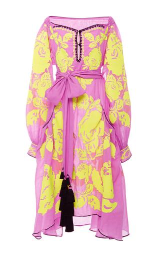 Medium yuliya magdych pink roses batiste midi dress