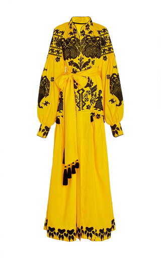 Medium yuliya magdych yellow king of beasts long dress