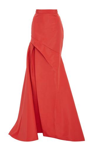 Medium monique lhuillier pink azalea silk faille skirt