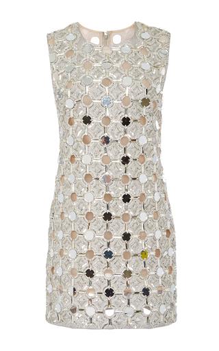 Medium kaufmanfranco silver mirrored disco shift dress