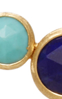 18 K Yellow Gold Two Stone Stud by MARCO BICEGO Now Available on Moda Operandi