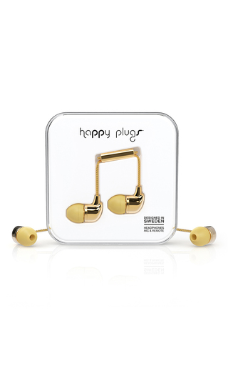 Medium happy plugs gold mo7728