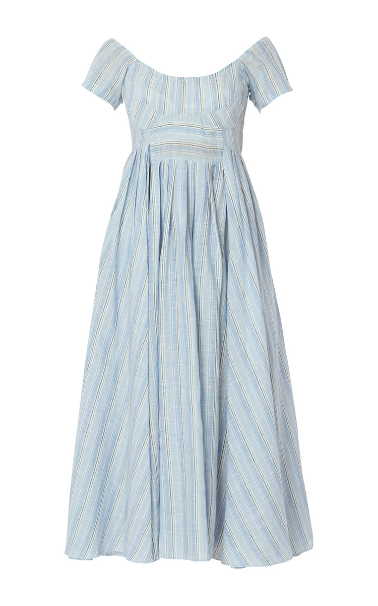 Short Sleeve Scoop Neck Midi Dress by Gül Hürgel   Moda Operandi