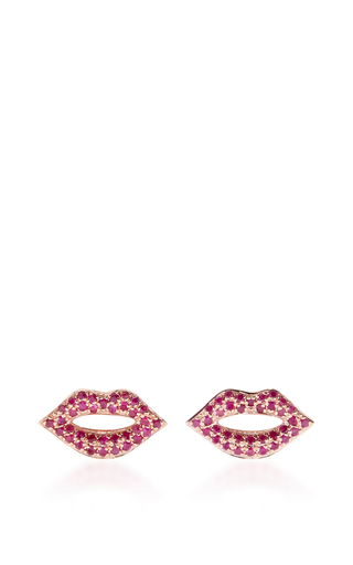 Medium sydney evan pink lip studs