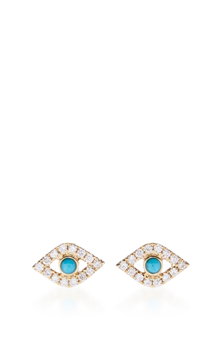 Medium sydney evan blue large evil eye studs