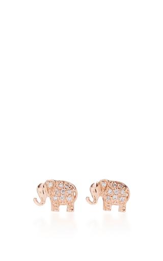 Medium sydney evan rose gold mini elephant studs